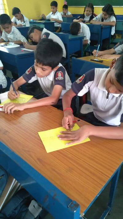 Post Card Writing Activity  - Inter Section Photo Gallery Bal Bhawan School